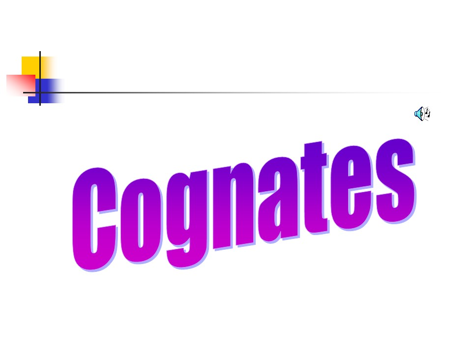 French Cognates