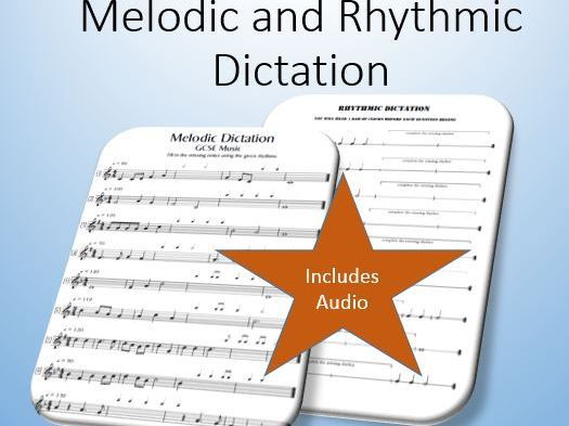 Melodic and Rhythmic Dictation (includes audio)