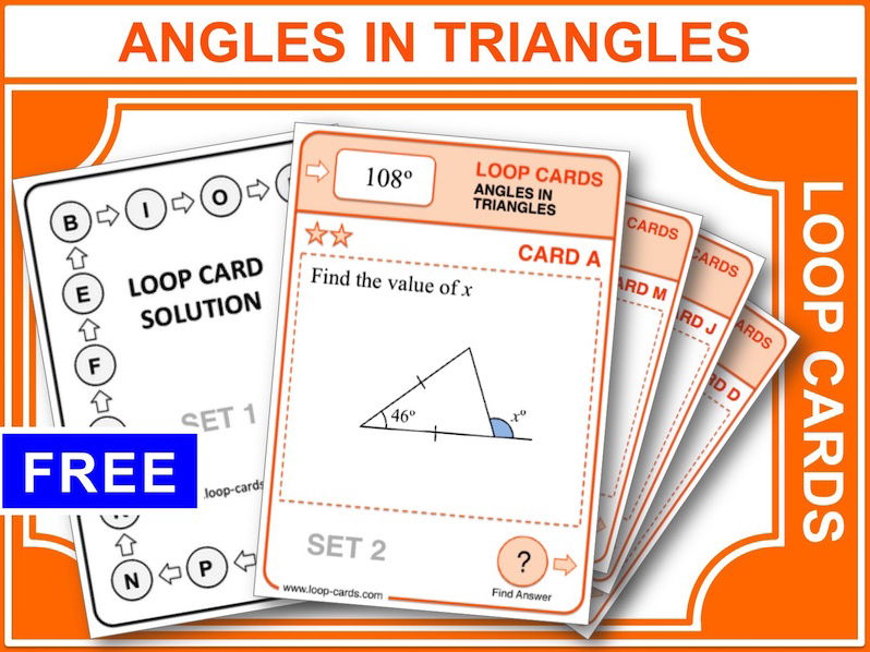 Angles in Triangles (Loop Cards)
