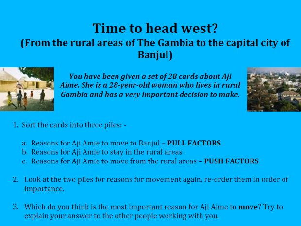 Time to head west? (Rural-to-Urban Migration in The Gambia)