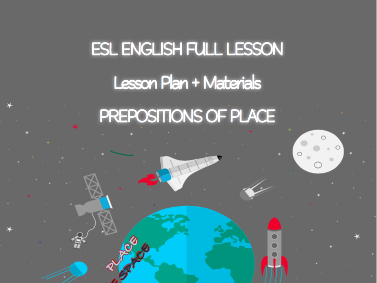 ESL English Full Lesson : Prepositions of Place LEVEL: Beginner