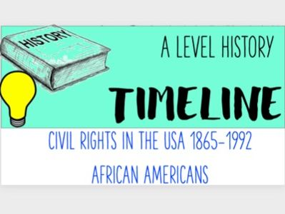 Civil Rights in the USA 1865–1992: African Americans Timeline