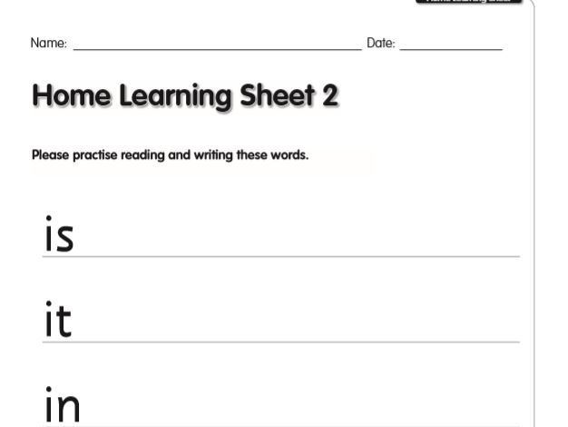 SEND Literacy/ English, Reading the High-Frequency Words (6 lessons, Week 1) Home-learning