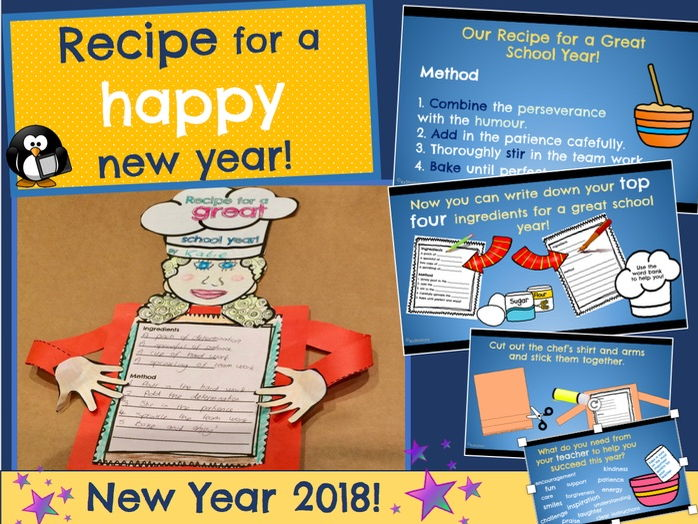 Recipe for a Happy New Year: New Year 2018 Activity