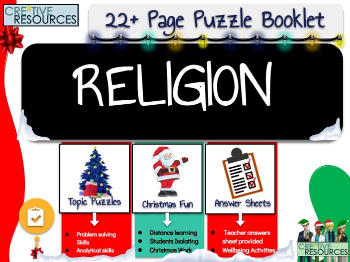 Christmas RE Puzzle Work Book
