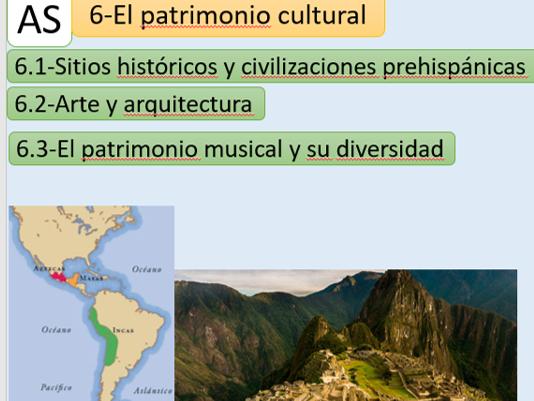 """El patrimonio cultural""  New AQA A Level -Revision notes (Word document)"