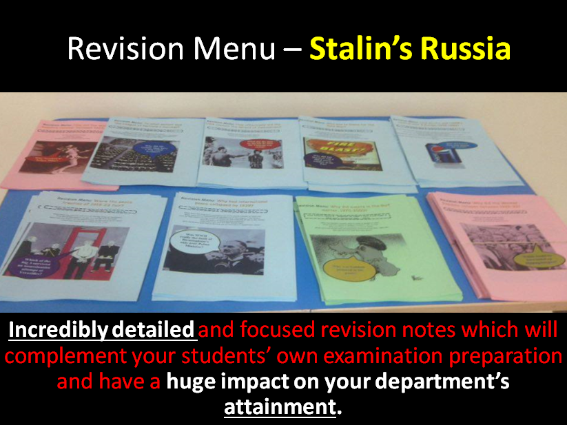 Revision Menu – Stalin's Russia