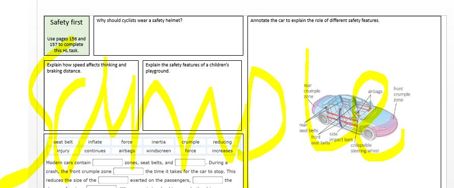 Car Safety GCSE AQA Physics 9-1