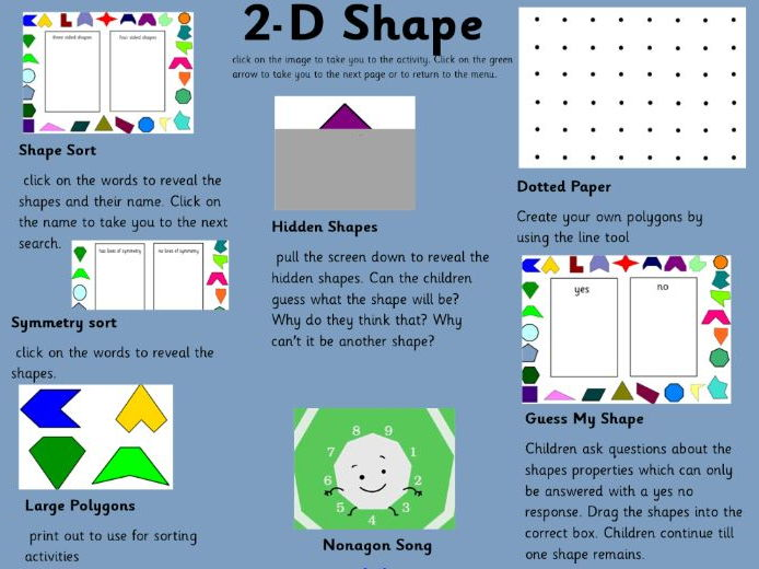 2D shape interactive learning tool