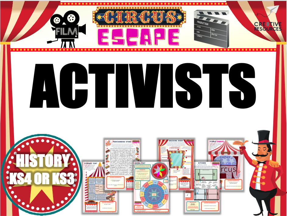 Activism and Activist throughout History Escape Room