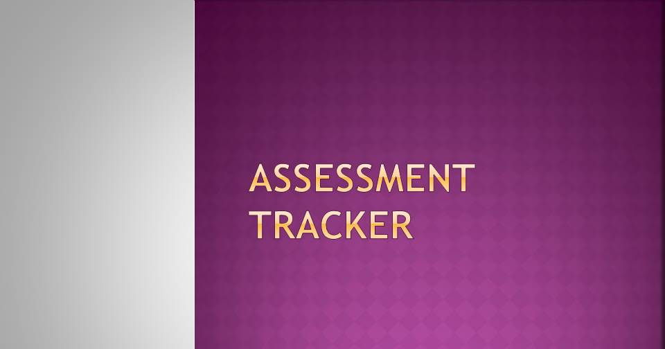 Assessment Recording and Tracking Templates