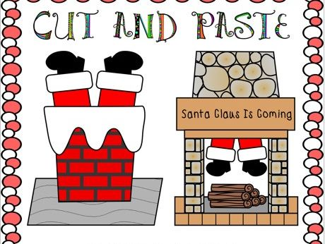 Cut and Paste Christmas Crafts Santa Claus is Coming