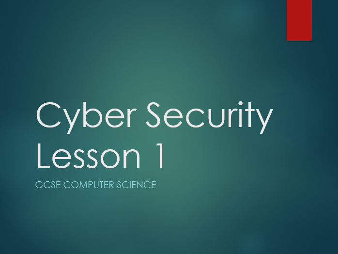 AQA 8520 Cyber Security Mini UOW Lessons + Assessment