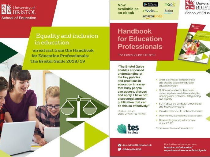 Equality and inclusion in education - guidance on teachers' statutory responsibilities and rights.