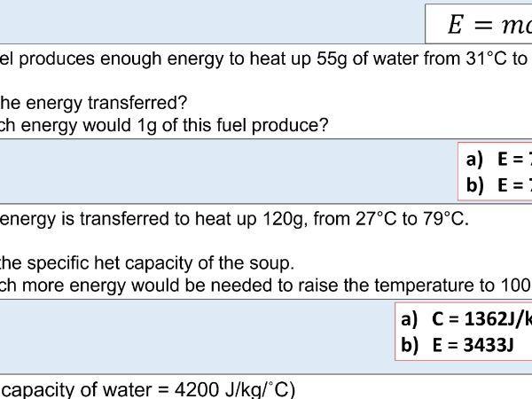 GCSE Physics (4.3.2.1) (4.3.2.2) Particle model - Internal Energy + Temp change and SHC (AQA lesson)