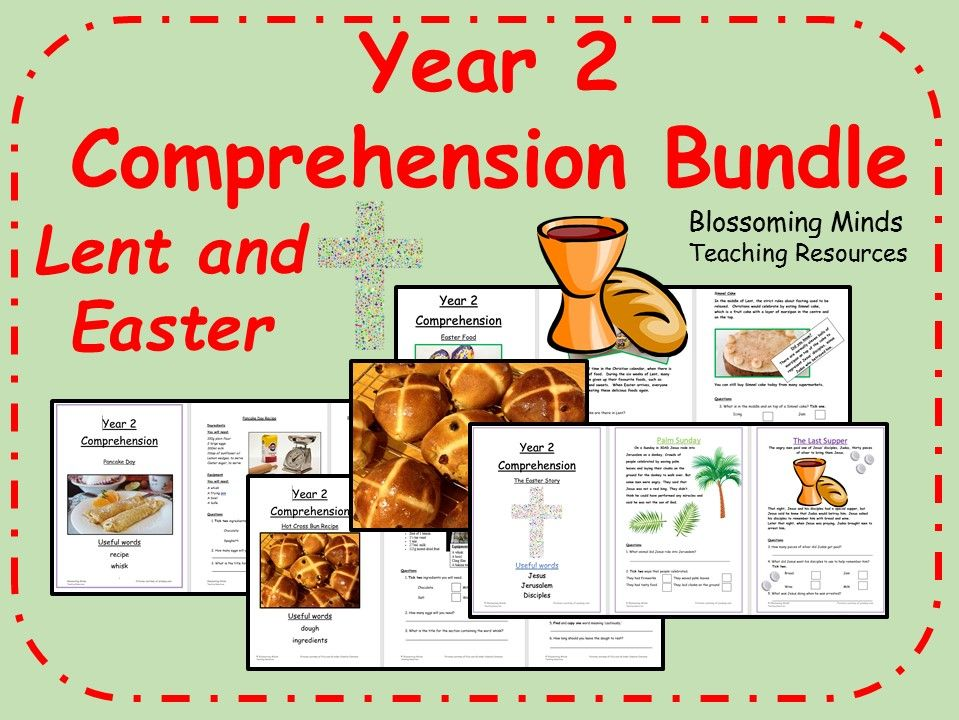 Year 2 Easter Comprehension Bundle