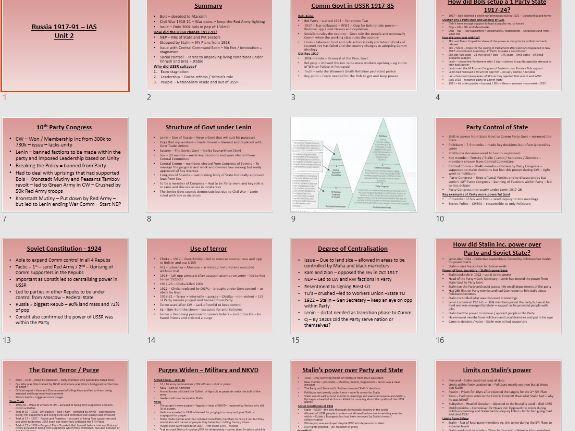 Ed-Excel IAL History Russia 1917-91 Unit 2