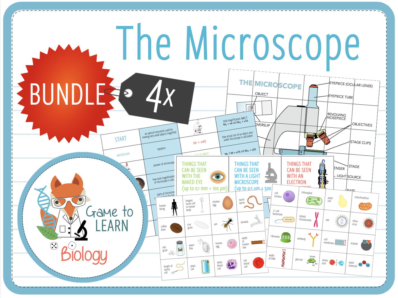 The Microscope - 4x Games and Activities (KS3/4/5)