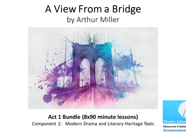 GCSE Literature: 'A View from a Bridge' – Act 1 Bundle (9x90 minute lessons)