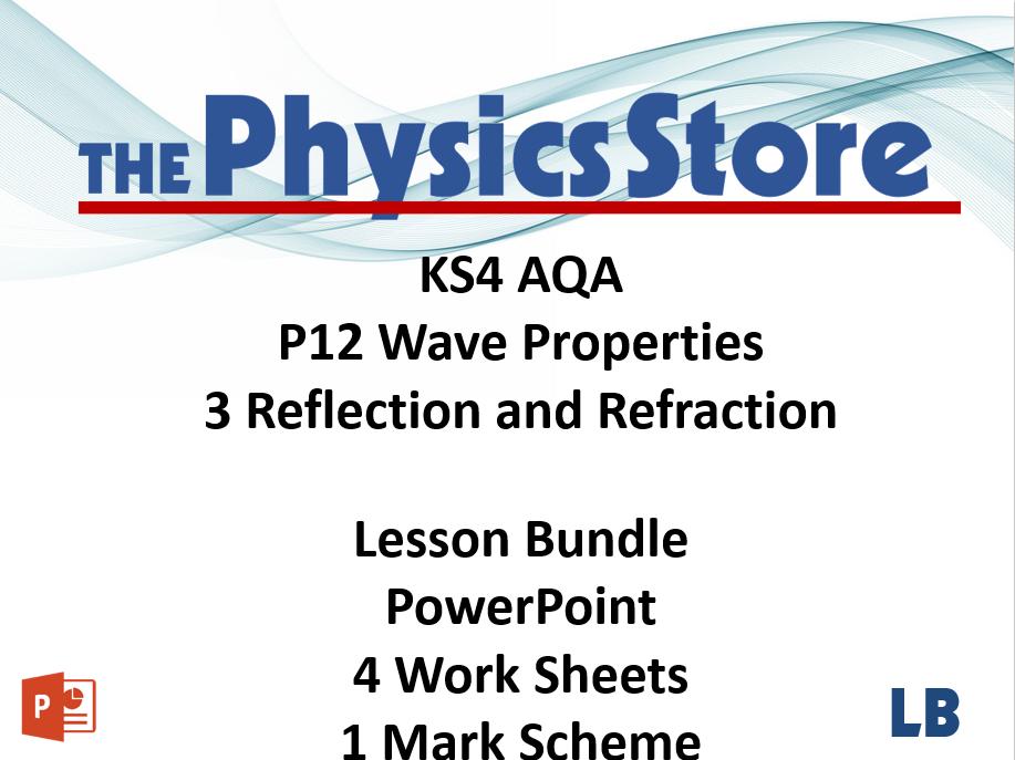 KS4 Physics AQA P12 3 Reflection and Refraction Lesson Bundle