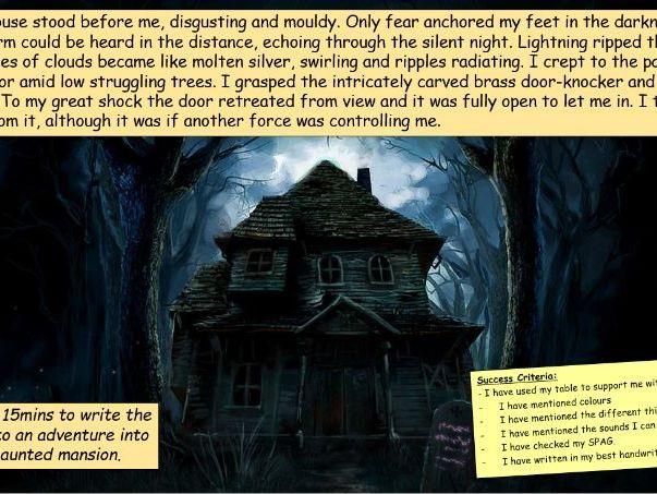 'Haunted Mansion' Halloween Creative Writing Lesson