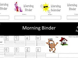 Morning Binder - Kindergarten / Special Educational Needs