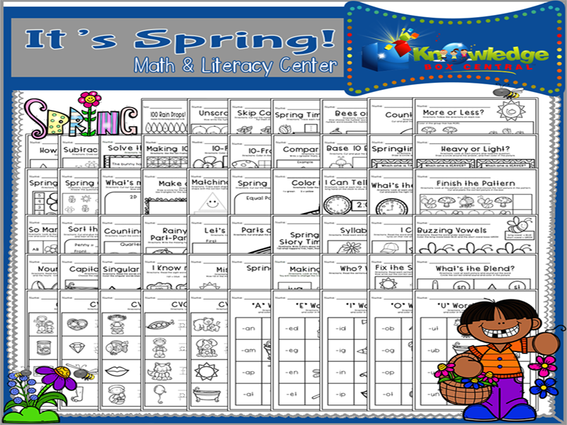 It's Spring! Math & Literacy Center - CCSS Aligned for Kindergarten