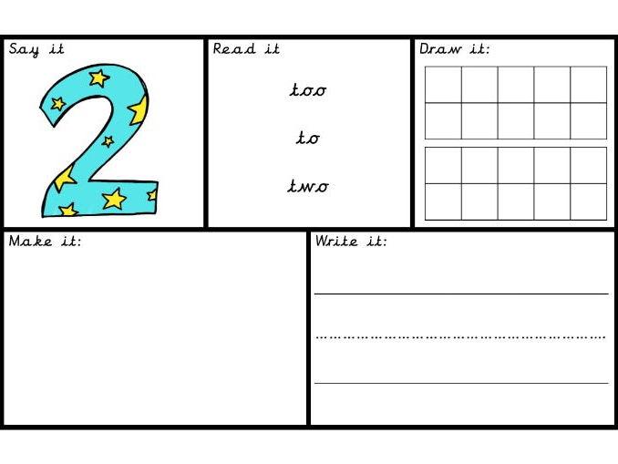 Number recognition/sense maths 0-20