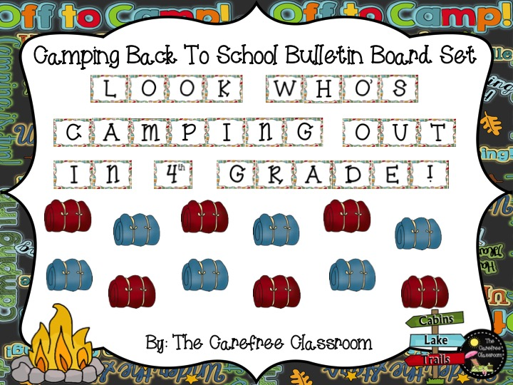 Bulletin Board Set: Camping Out Back To School Set