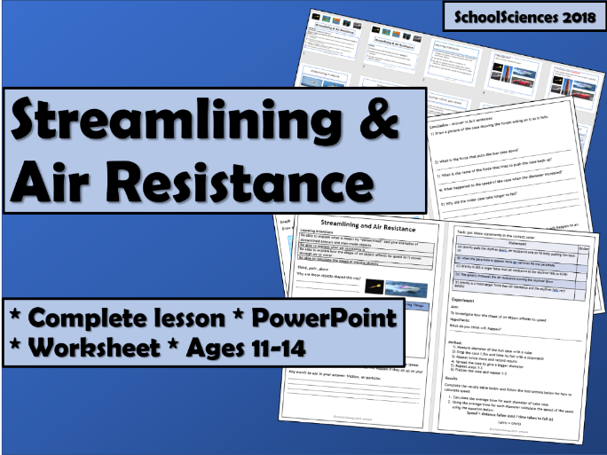 Streamlining and Air Resistance - Ages 11-14