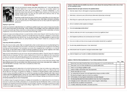 Reading Comprehension Texts Worksheets by MariaPht Teaching – Esl Reading Worksheets