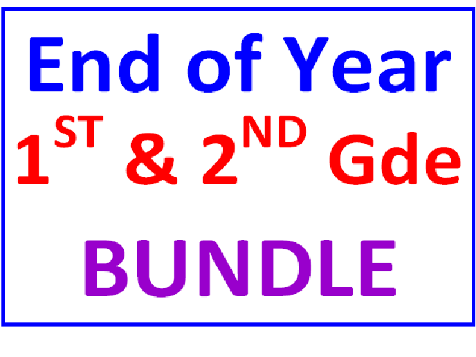 End of the Year First and Second Grade BUNDLE (17 Worksheets)