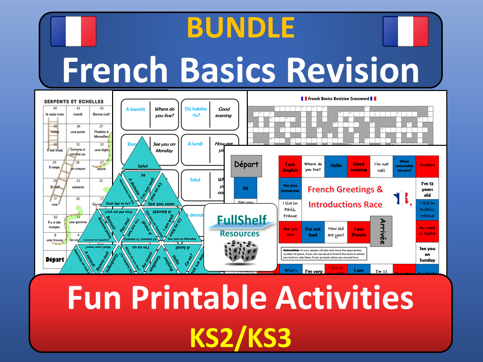 French Revision Activities (End of Term)
