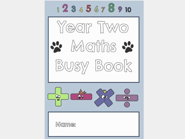 Year 2 Maths Busy Book (40+ Pages of Independent Maths Activities!)