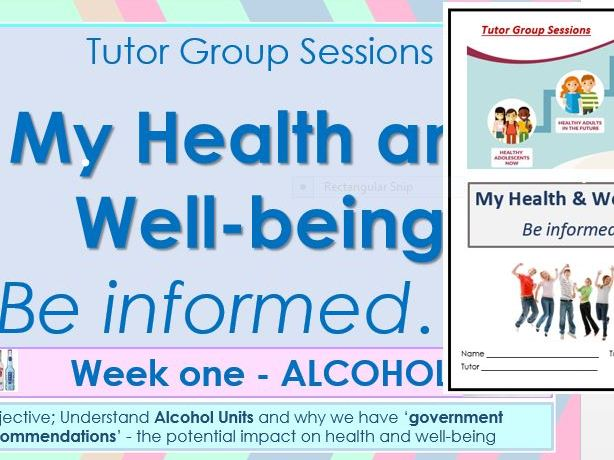 Tutor Session Health Topics resource package, PowerPoint and Activity Book - Years 11, 12 and 13
