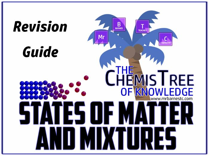 States of Matter, Mixtures and Separation Techniques Revision Guide