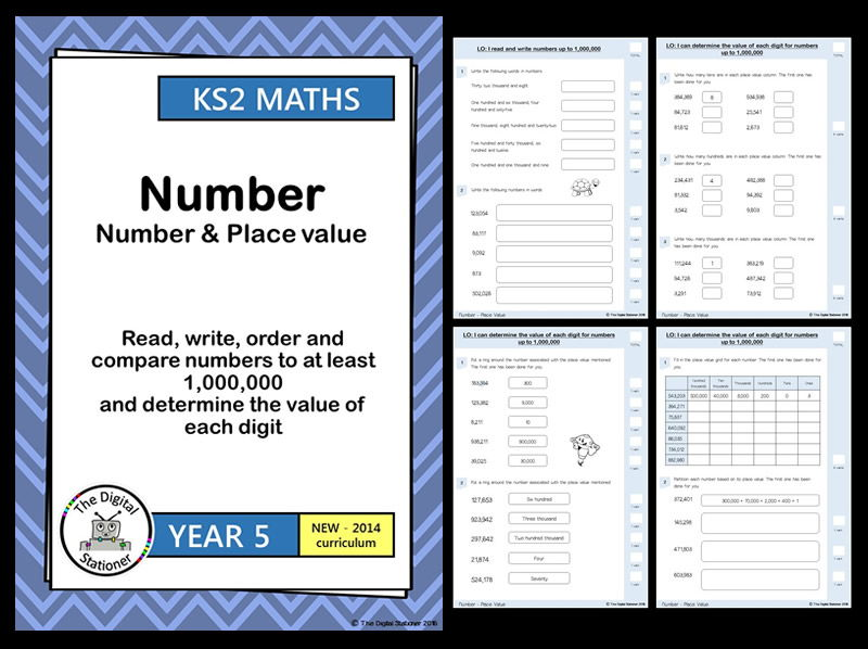 Year 5 - Read, write and order  numbers up to 1,000,000 - Number & Place Value (inc. mastery)