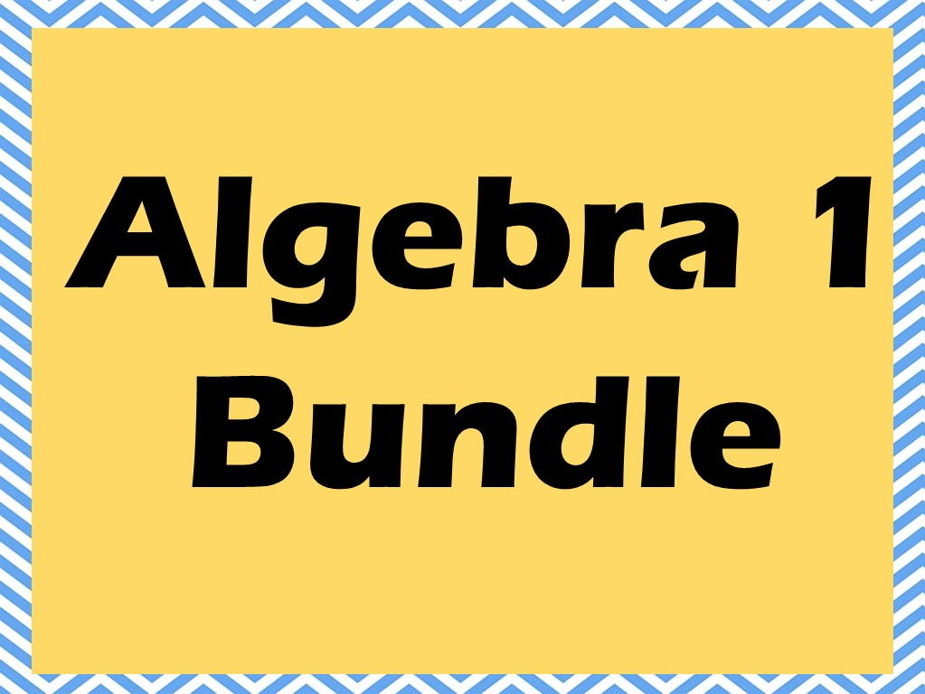 Our Giant Algebra 1 Bundle - Linear, Quadratic, Exponential Functions, Regressions and more