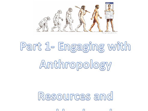 IB Social and Cultural Anthropology- Engaging with Anthropology