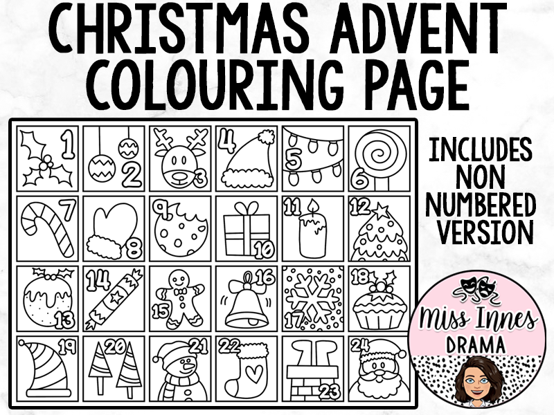 Christmas Advent Colouring Page