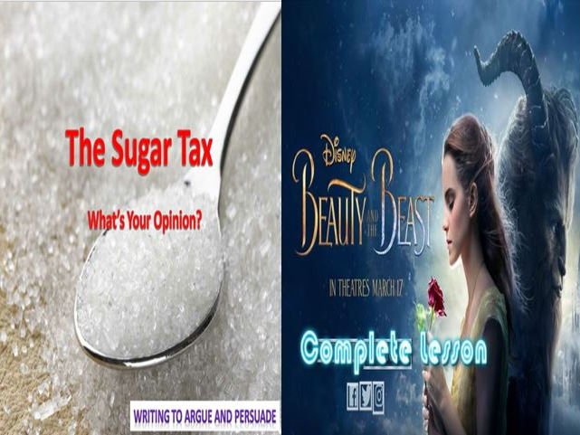 Beauty and the Beast Descriptive Writing + The Sugar Tax and a Literacy Game