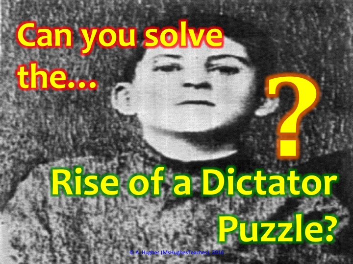 How did Stalin become a dictator? Cryptogram Puzzle