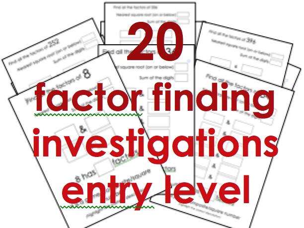 Factors: 20 short investigations KS2