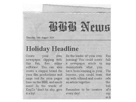 Create a Newspaper Article