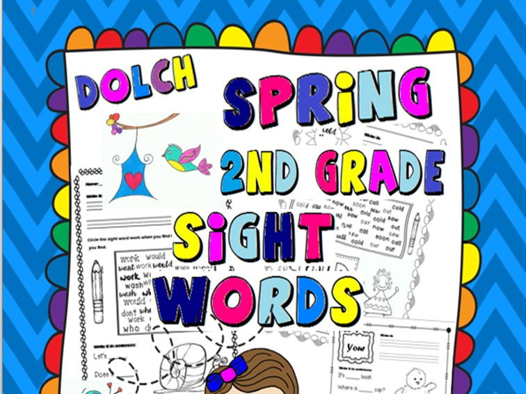 Spring Second Grade Sight Words Activities