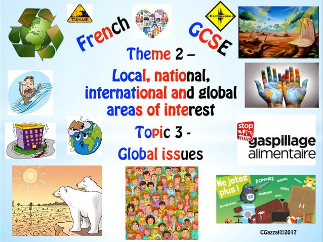 French New GCSE Theme 2 –  Topic 3 - Global Issues.