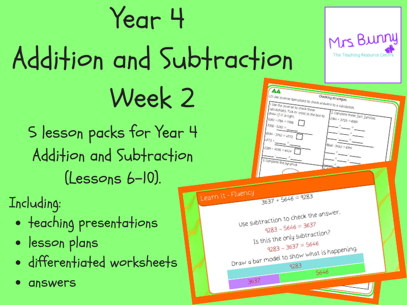 Year 4 Addition and Subtraction Week 2