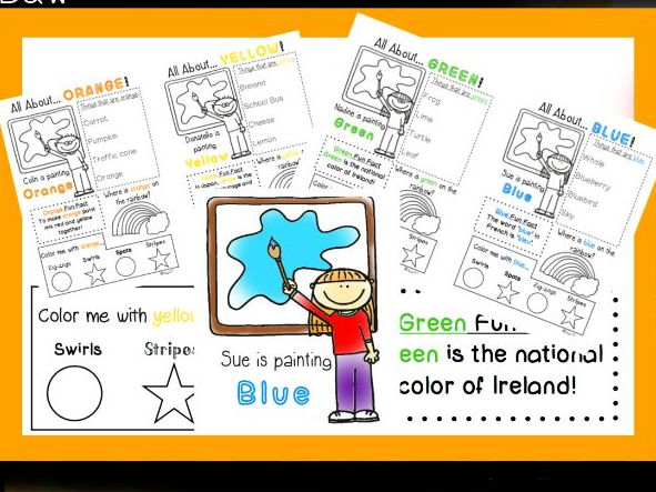 Learning Colours worksheets