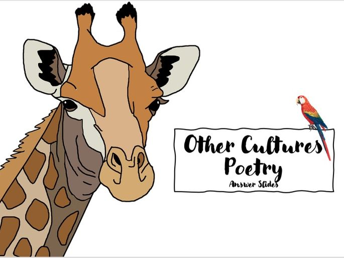 'Other Cultures Poetry'  [Remote Learning Booklet]