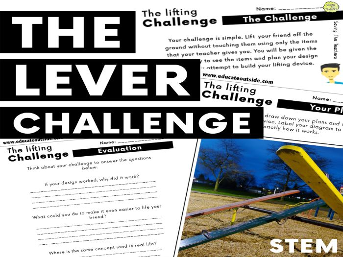 Forces and Motion: The Lever Challenge - Outdoor STEM